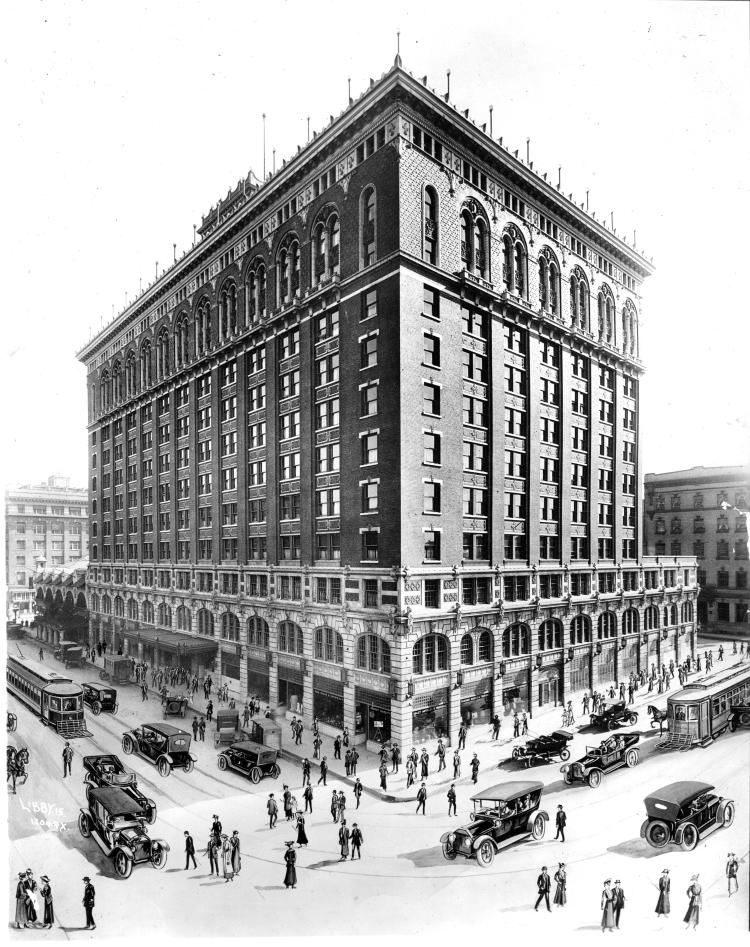 Davenport Hotel Architect Drawing 1915