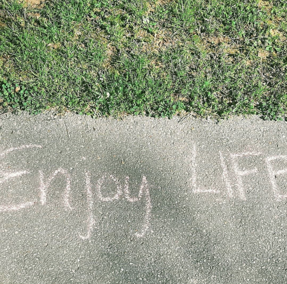 Enjoy Life chalk art in Huntsville