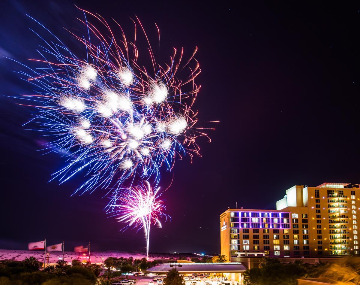 Agua Caliente Resort Spa Fireworks
