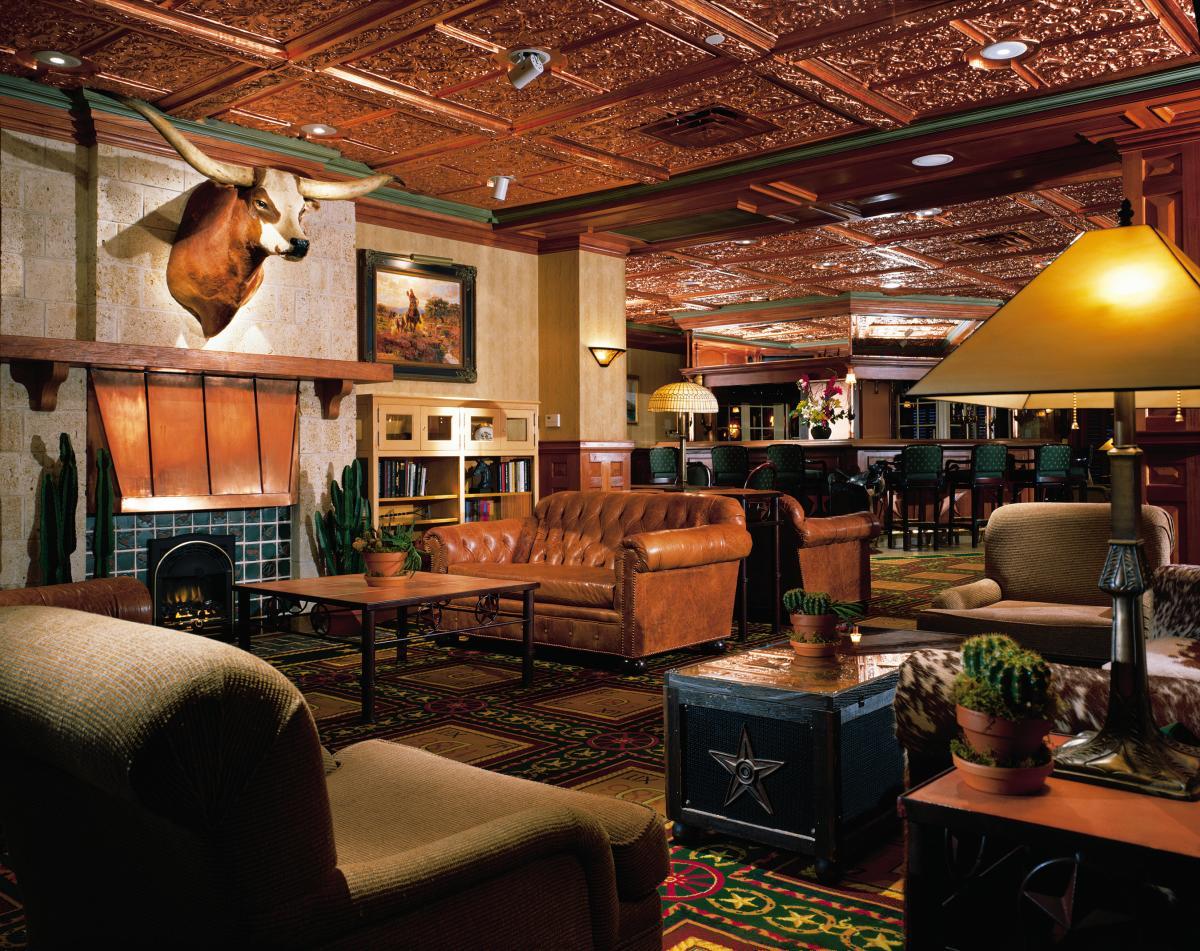 The Driskill Bar at the Driskill Hotel.