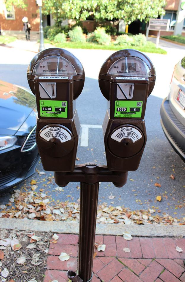 Two Parking Meters in Downtown Frederick