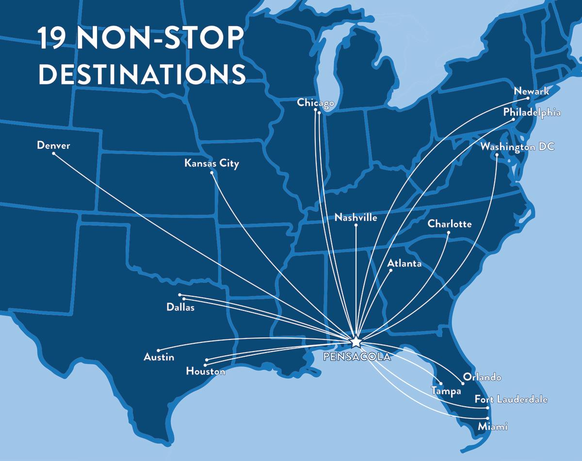 18 Nonstop Destinations