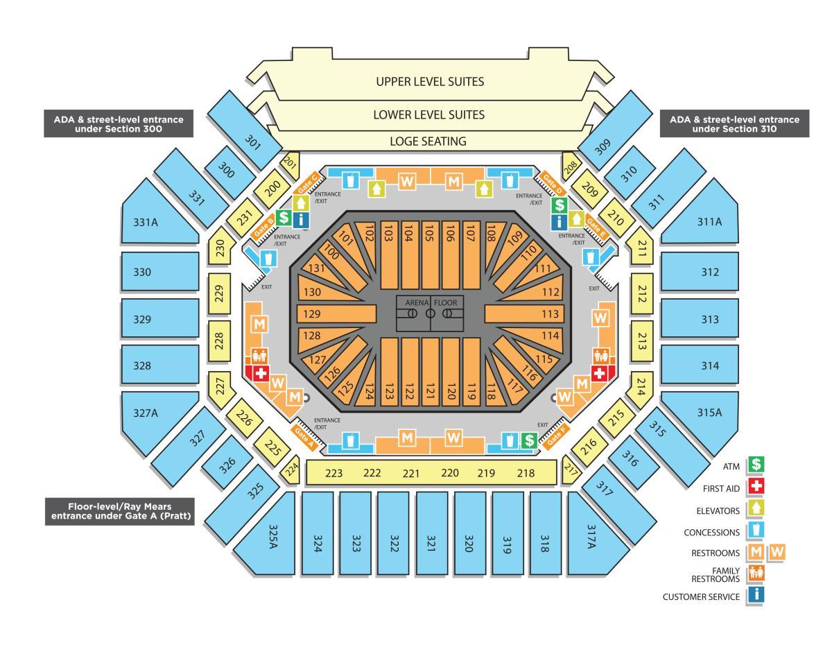 Arena Concourse Map