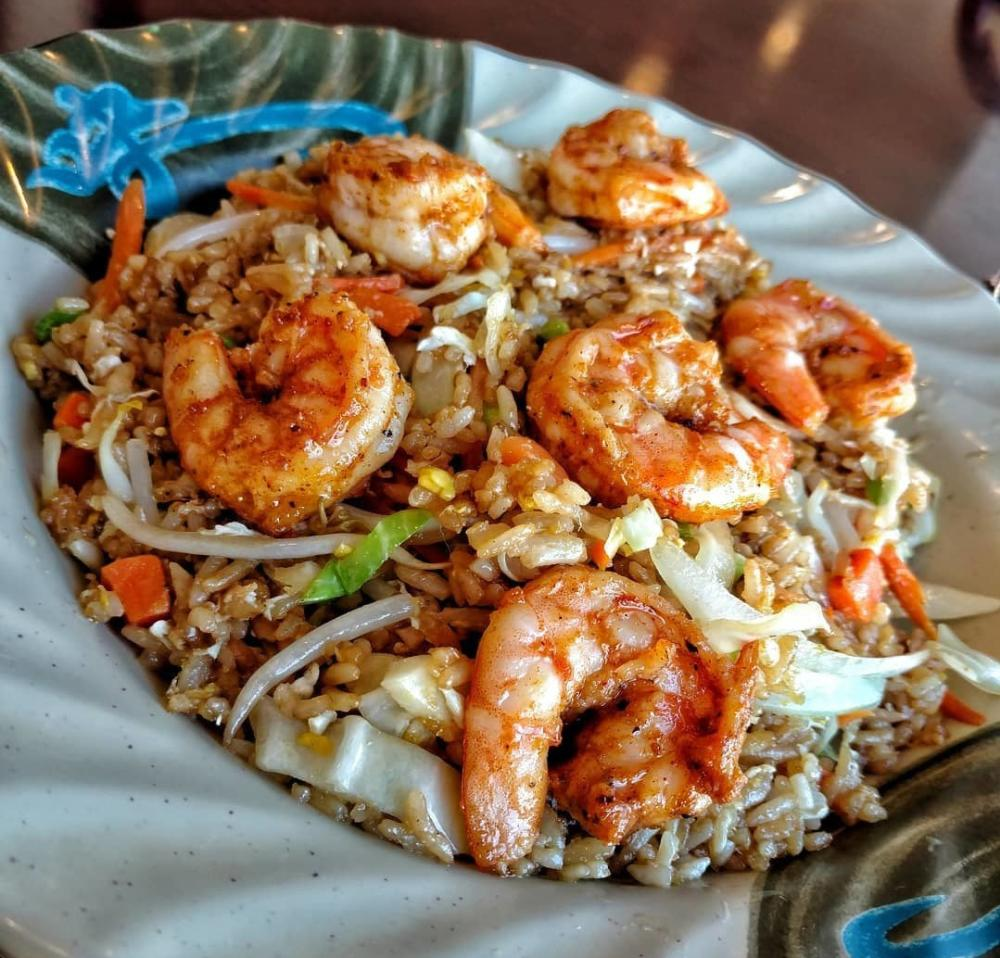Shrimp and rice dish at West Coast Grill on South Calhoun Street