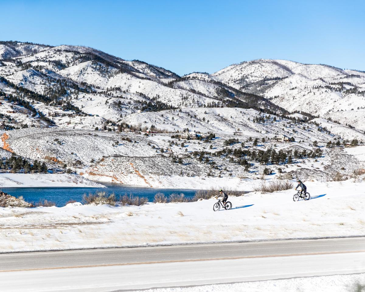 Fat Biking at Horsetooth Reservoir credit Josiah Roe