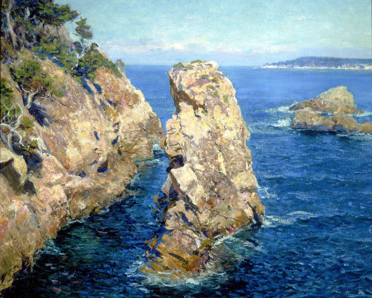Rocky shoreline in California