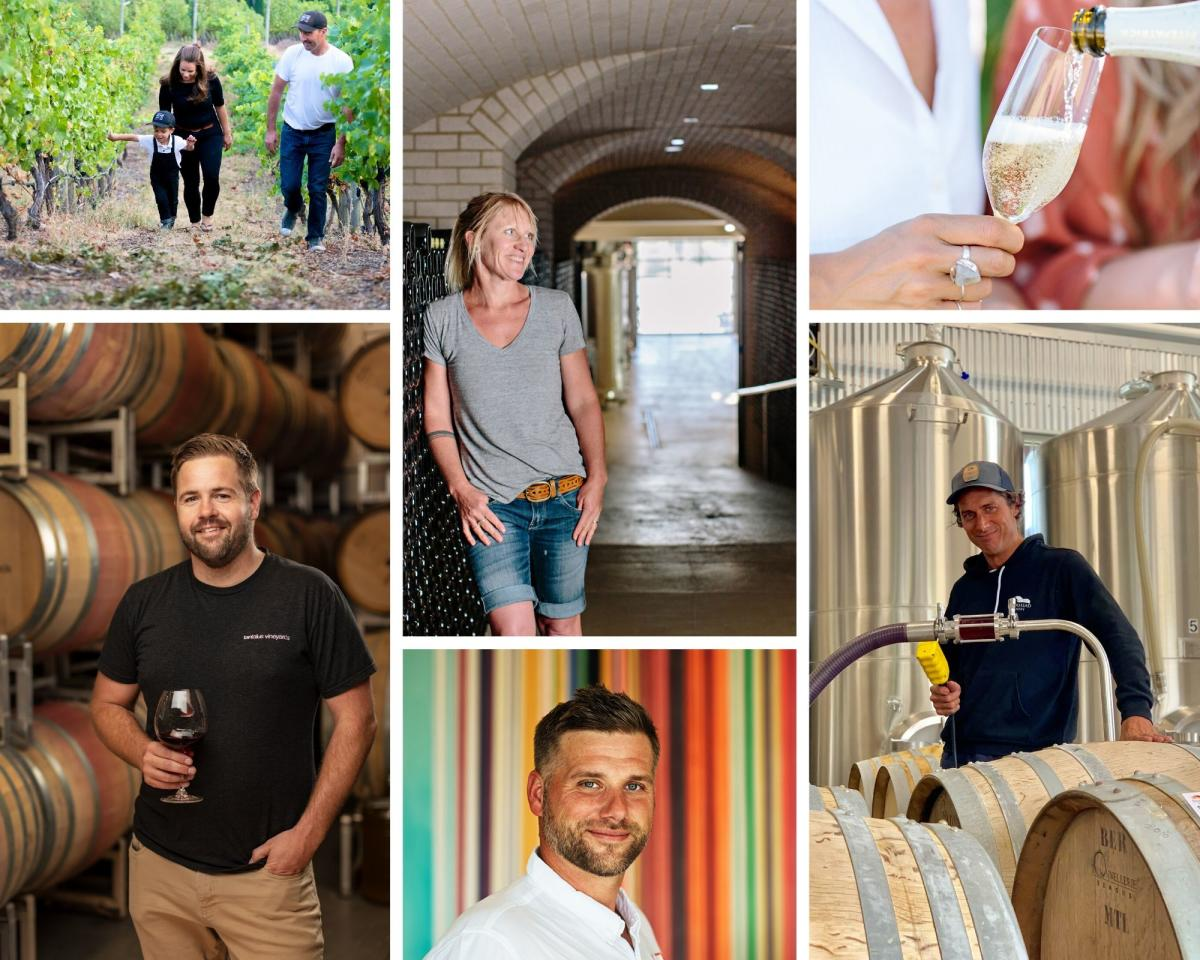 Collage of Winemakers