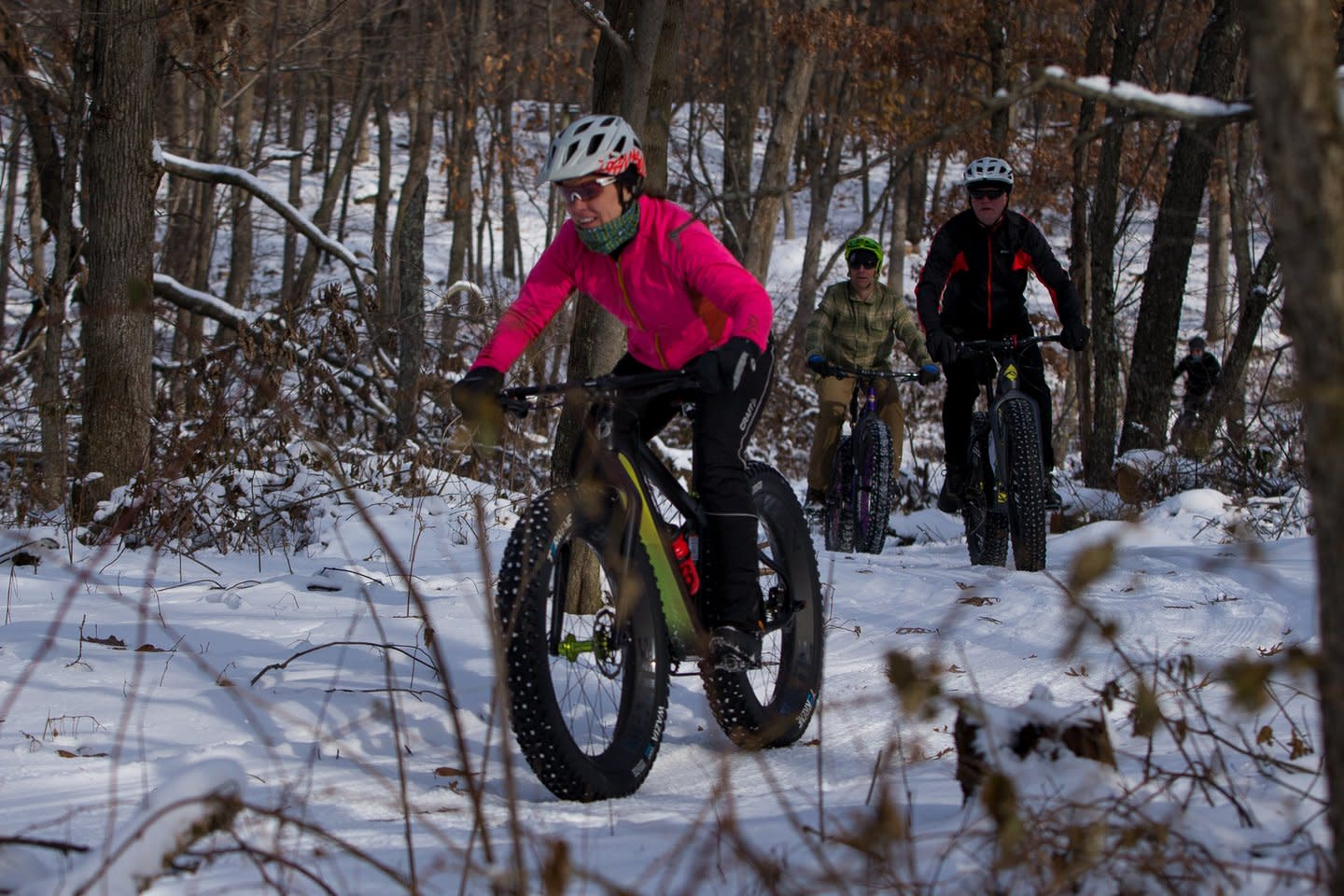 Fat Tire Biking at Standing Rocks County Park in the Stevens Point Area. Photo by Lex Bernsteen Photography