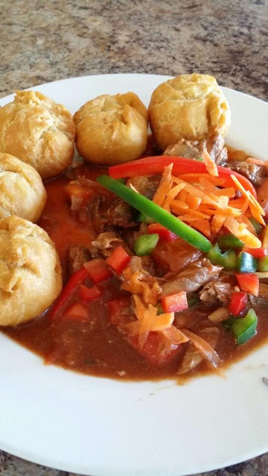 bowl of food with meat and vegetables