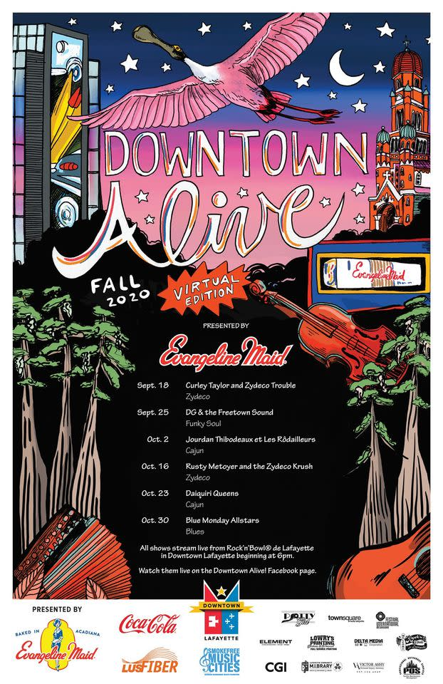 Downtown Alive Fall 2020 Poster