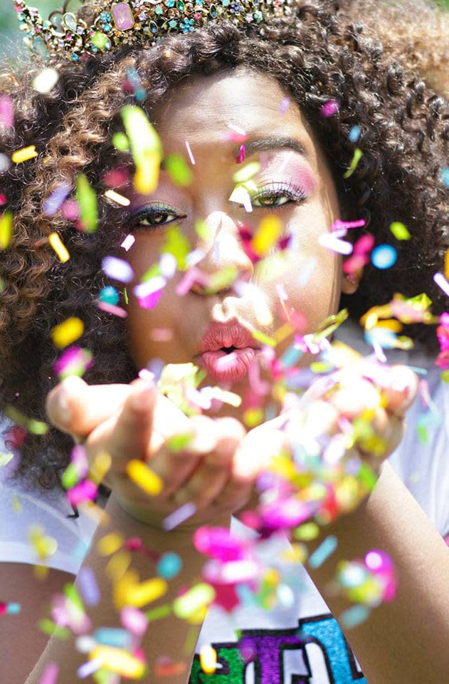 Portrait with confetti, photo by PinkPaisley Creative Design in Fort Wayne