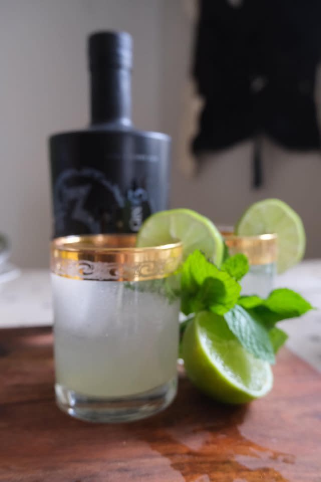 A Cucumber Mojito made with a recipe from Black Fox Farm and Distillery in Saskatoon, SK