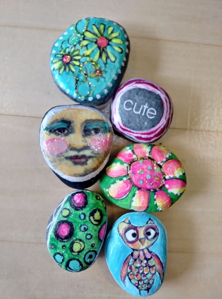 You may spot these rocks, painted by Amy Jochman, in the Stevens Point Area.
