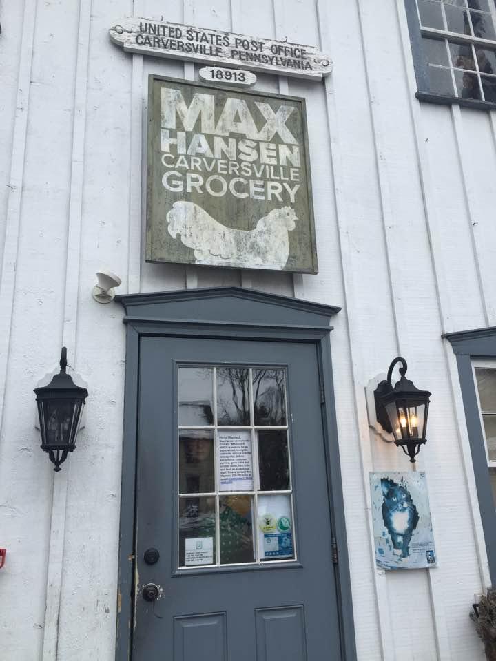 Sign at Max Hensen Carversville Grocery