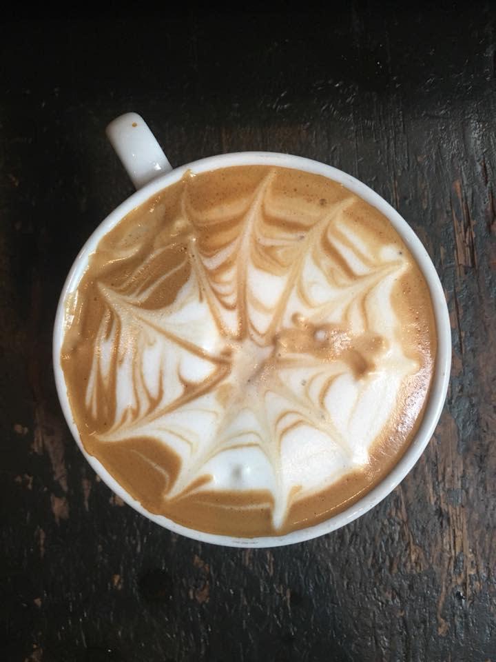 Spider latte blackbird coffee