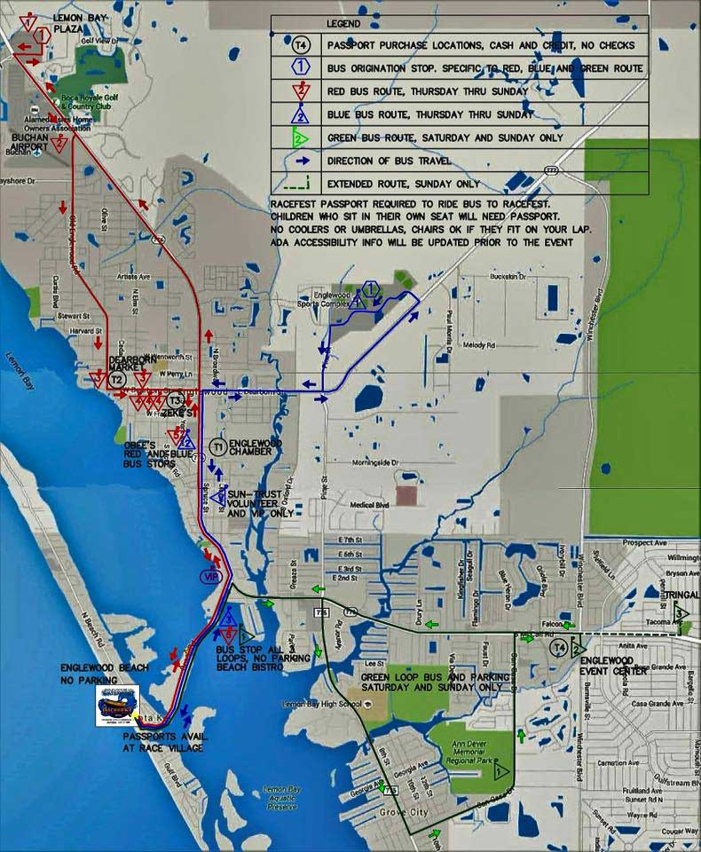 Englewood Beach Waterfest Map