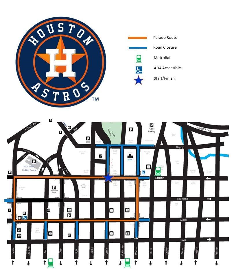 Astros 2017 Parade Route