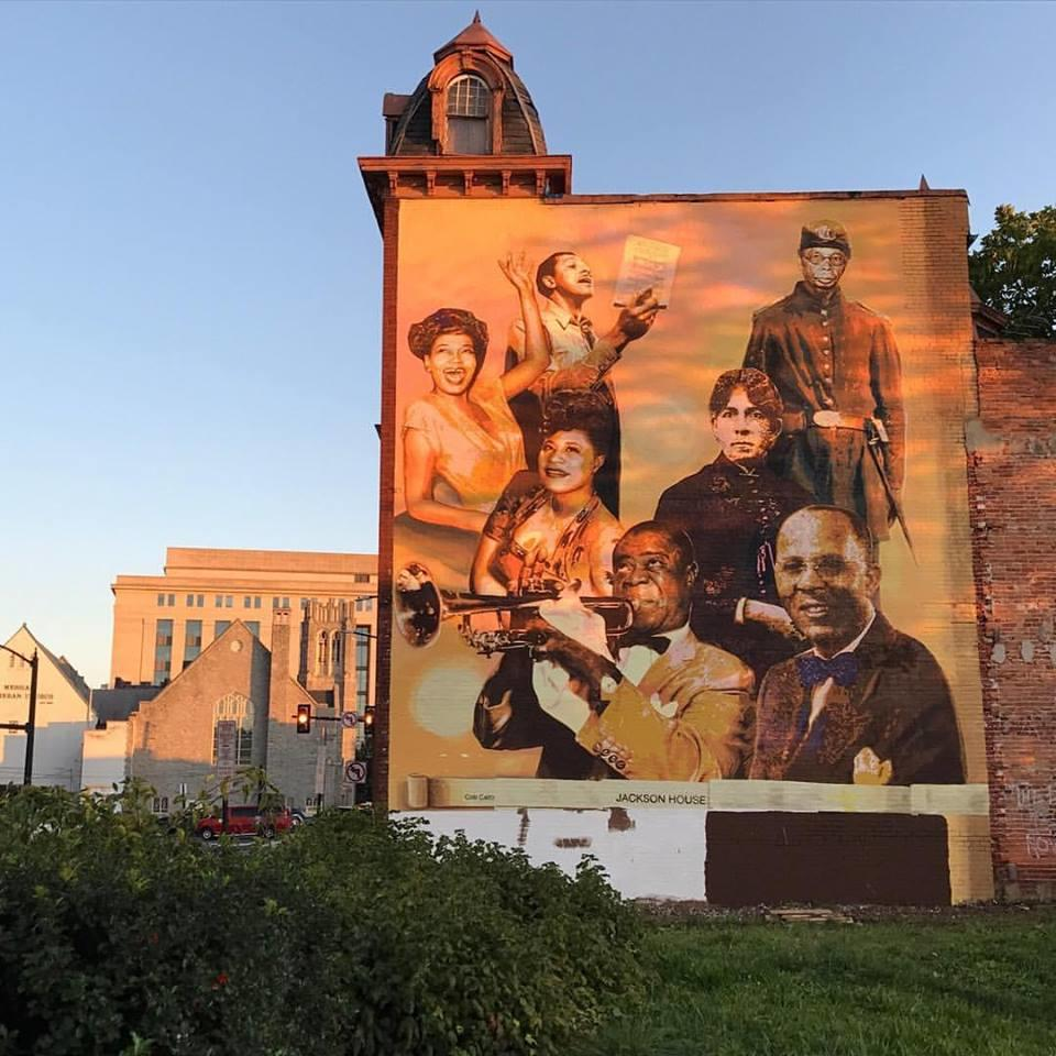 Cesar Viveros mural located at The Jackson House Hotel.