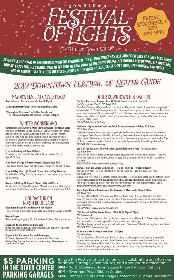 2019 Festival of Lights Guide