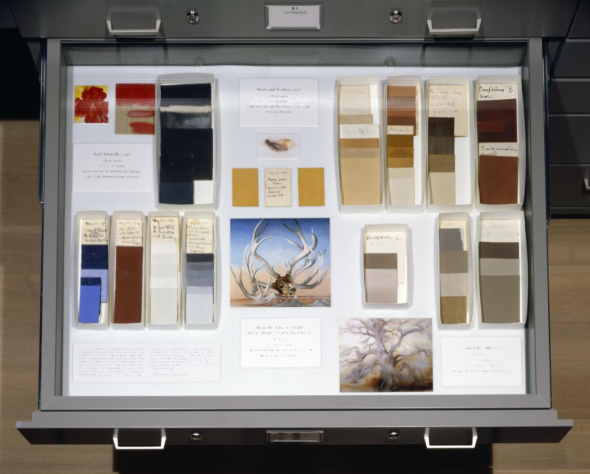 Georgia O'Keeffe Personal Property, Color Cards, 2001, Pedernal Palettes, New Mexico Magazine
