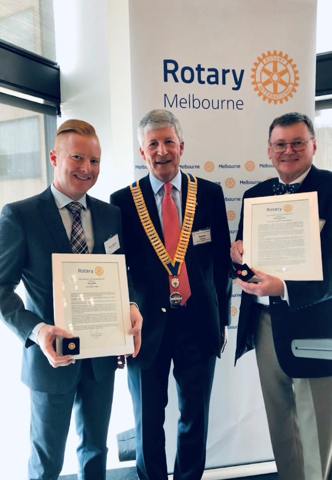 MCB's Jason Balkin receives award from the Rotary Club of Melbourne