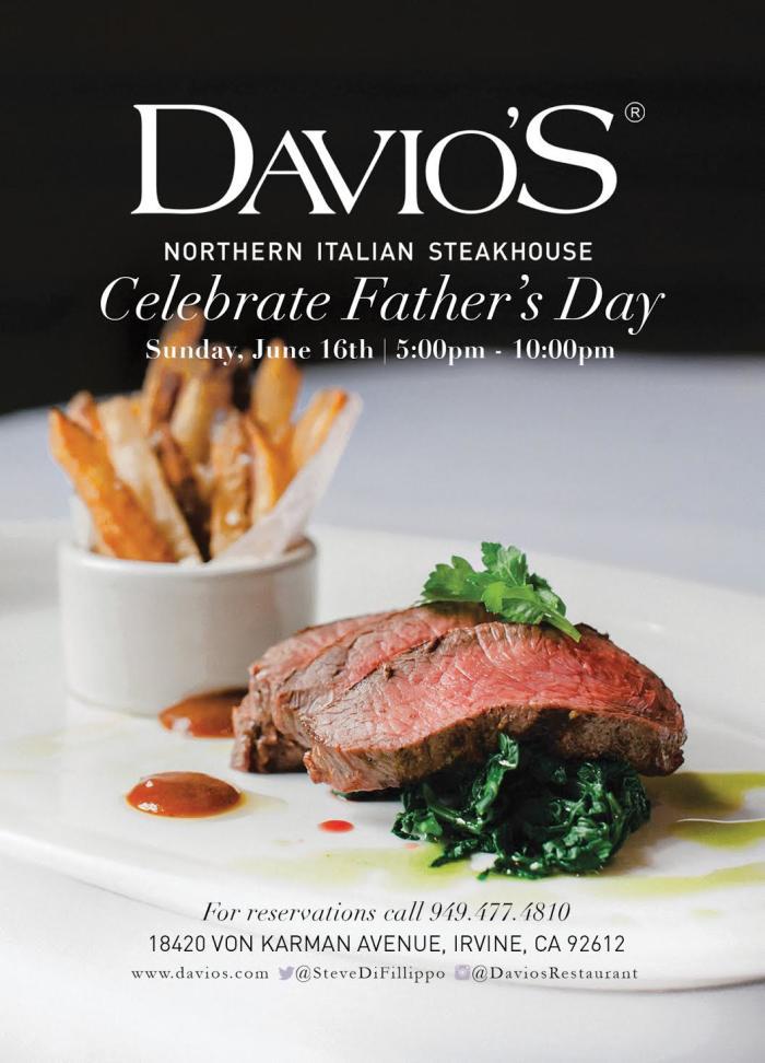 Davio's Irvine Father's Day Promo