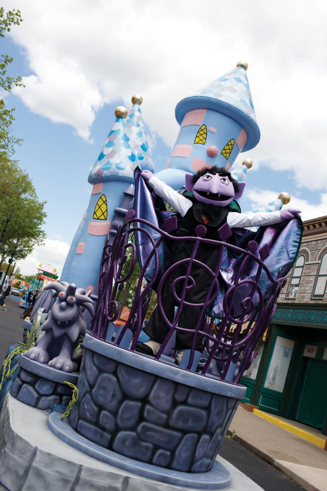 Sesame Place is transformed into a not-too-spooky haunted haven for children of all ages during the Count's Spooktacular.
