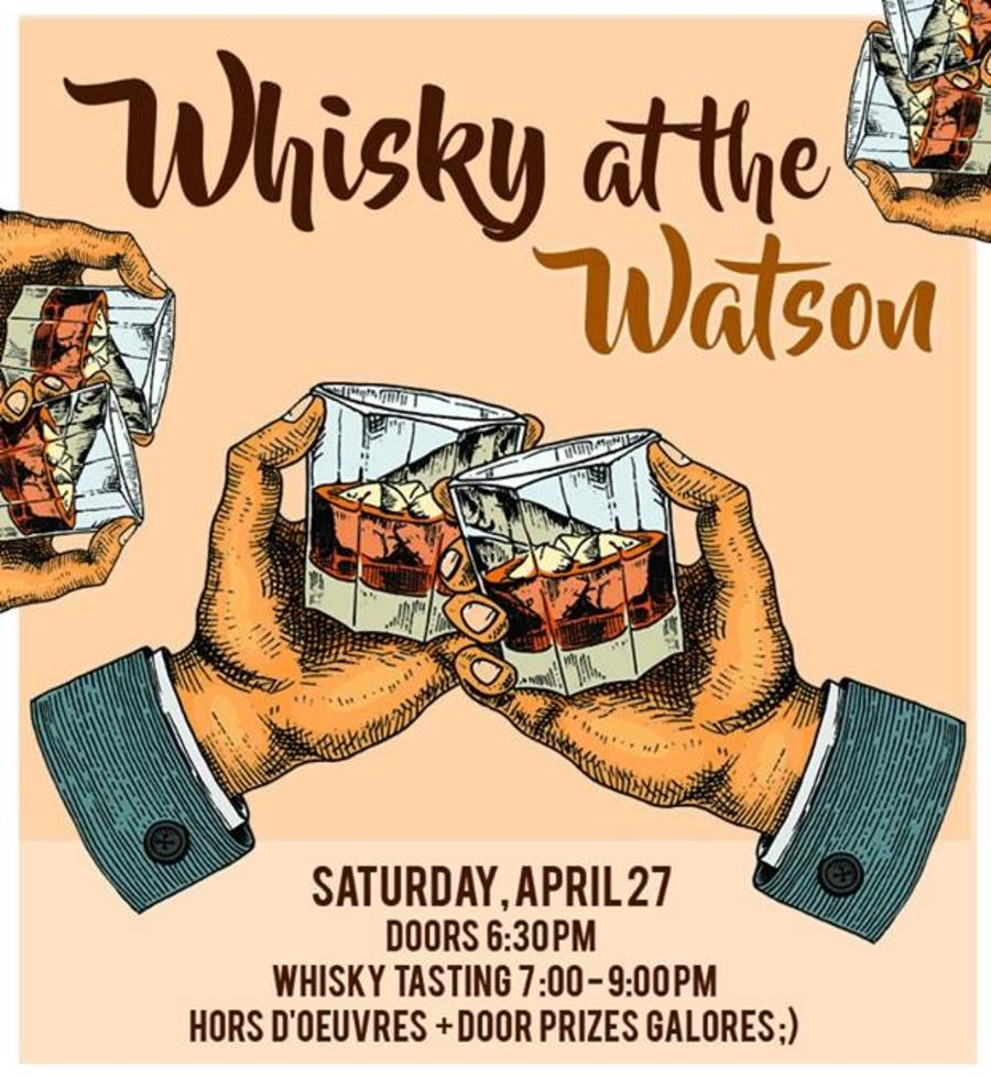 Watson Art Centre whiskey-tasting