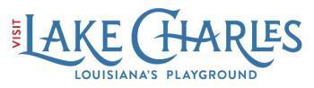 Visit Lake Charles Horizontal Color Logo