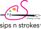 Logo for Sips n Strokes