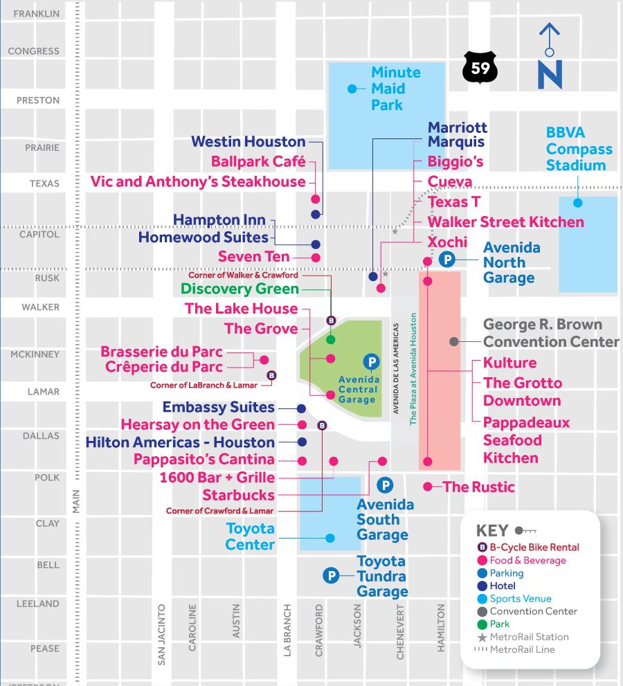 Avenida Houston Map