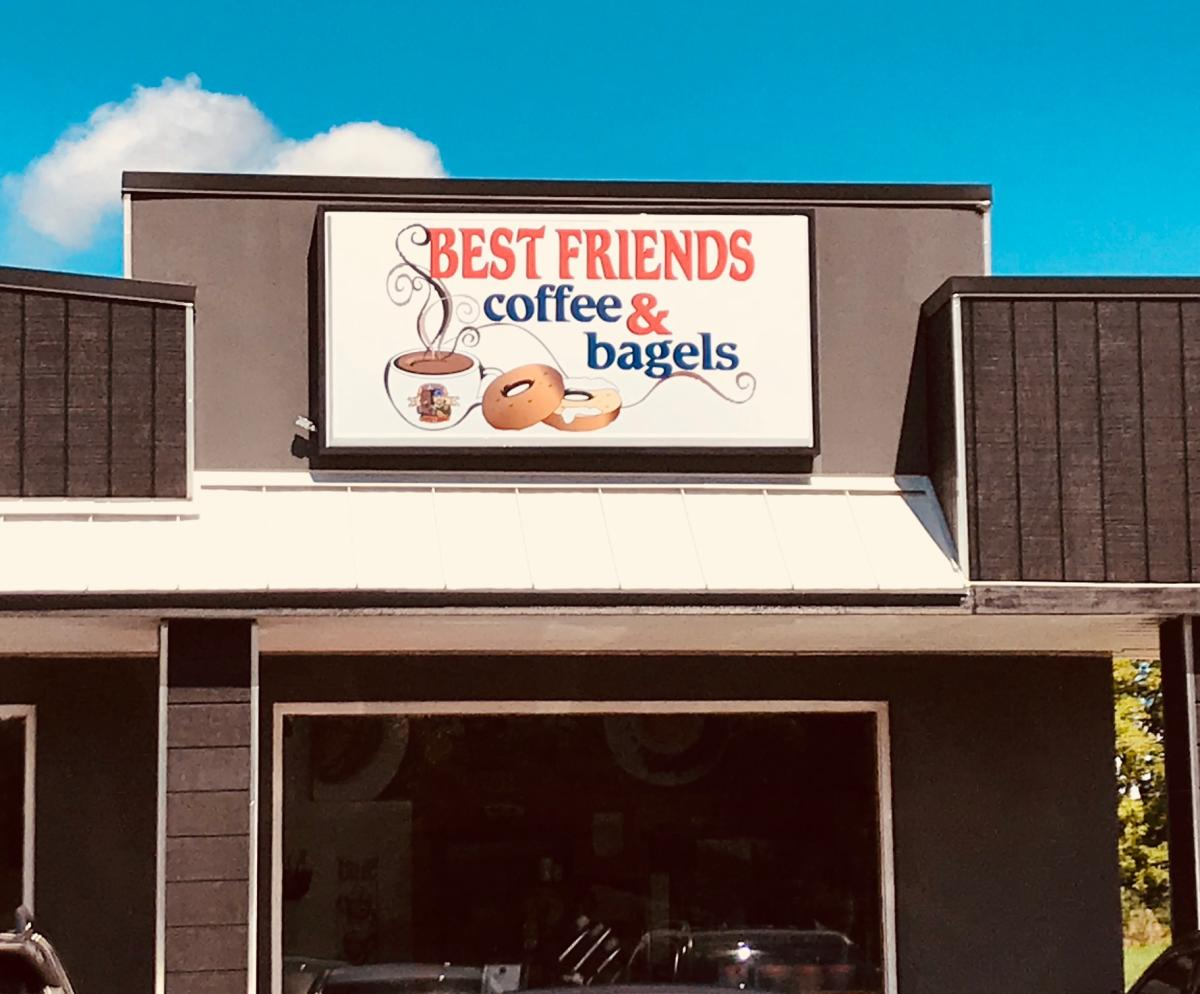 Best Friends Coffee and and bagels, storefront