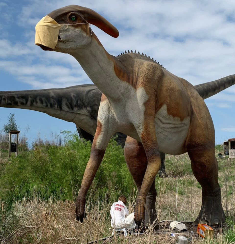 Field Station: Dinosaur in Mask
