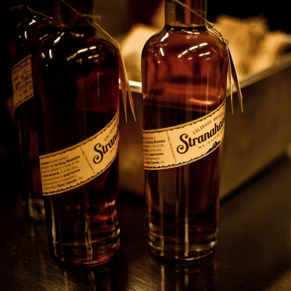 Bottles of Stranahan's whiskey