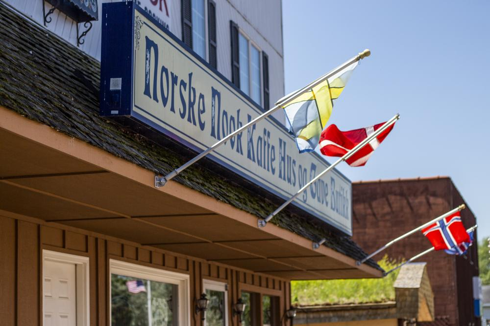 The exterior of Norske Nook in Osseo, WI