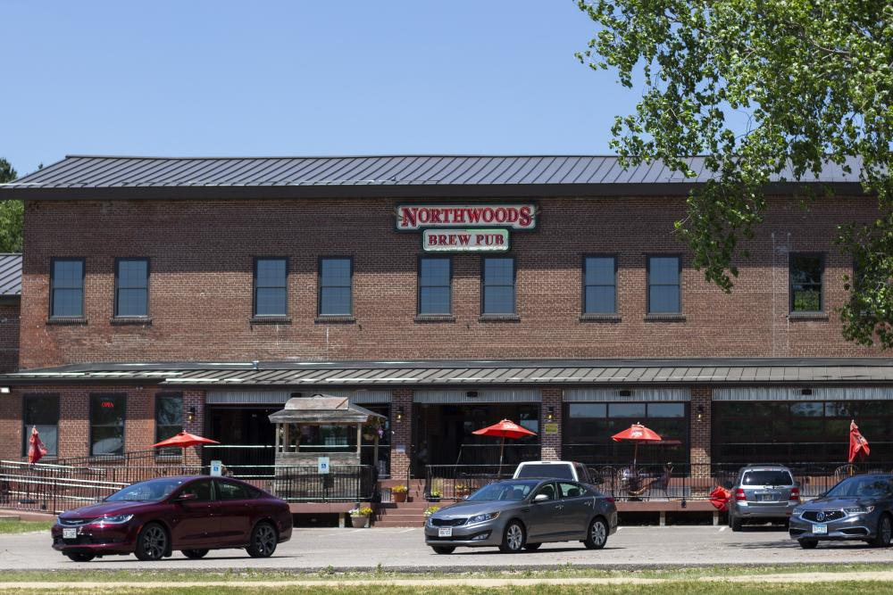 The outside of Northwoods Brewpub in Osseo, WI