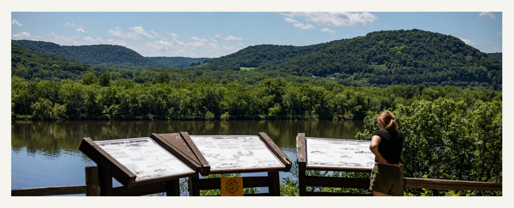View of the water at Perrot State Park in Trempeauleau, WI