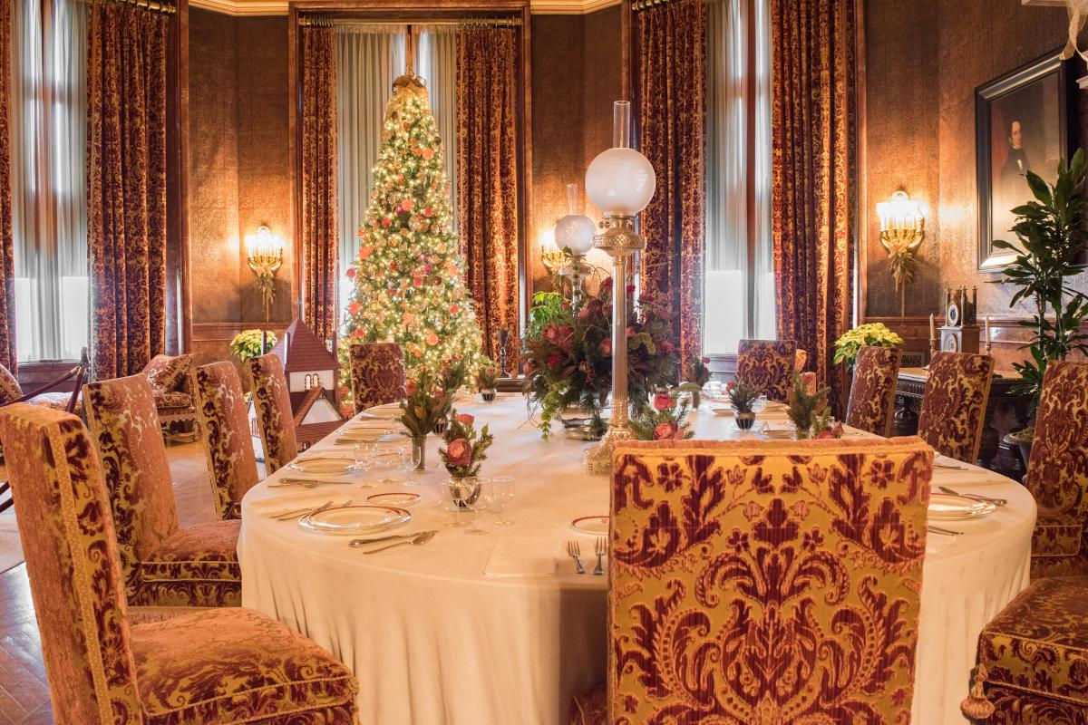Christmas at Biltmore Estate Breakfast Dining Room 2017