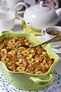 Banana Bread Pudding made with Croissants   ExploreAsheville.com