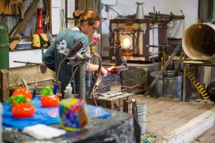 Glassblowing in Harmony, CA