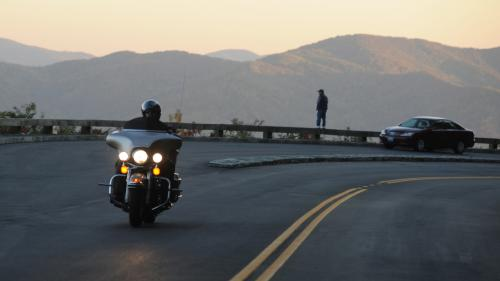 Fall Motorcycle Ride along the Blue Ridge Parkway
