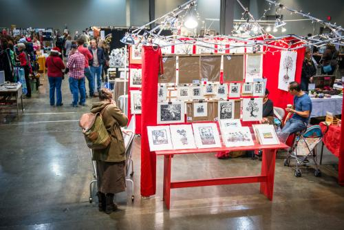 Shoppers at the UICA Annual Artist Market