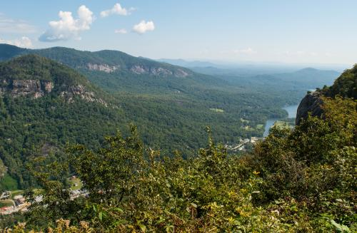 Peregrine's Point on New Skyline Trail at Chimney Rock