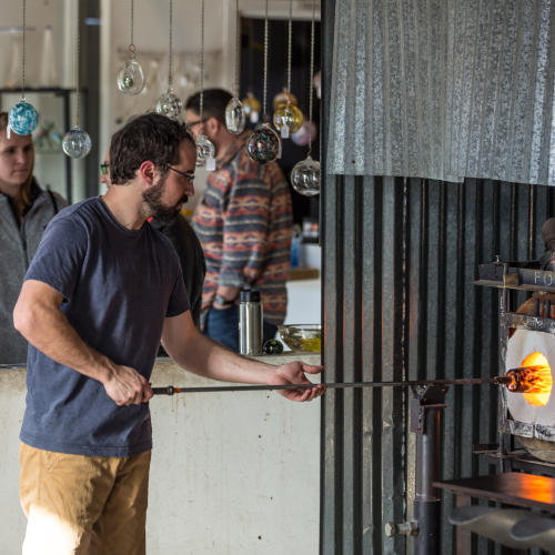 Glass Blowing in Asheville