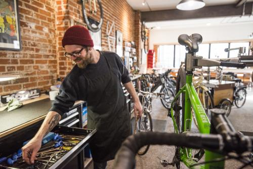SHIFT Cyclery & Coffee Bar Bike