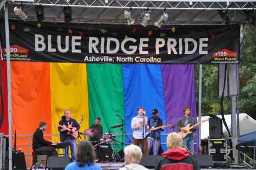 A performance at the Blue Ridge Pride festival