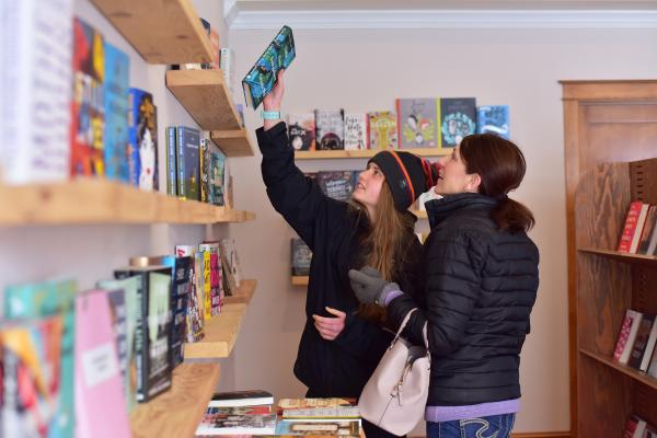 Women shopping at Dotters Books
