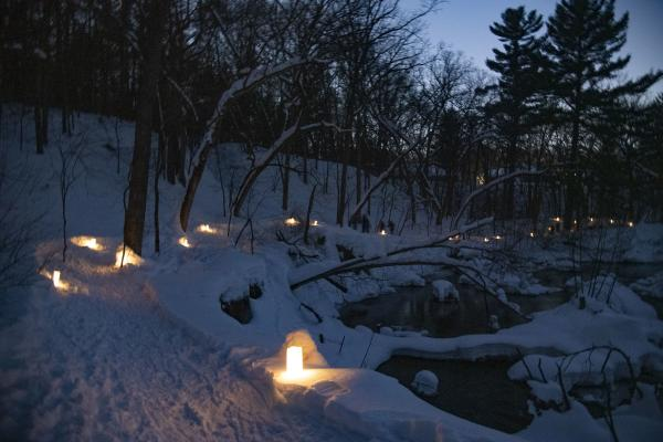 Candlelight Snowshoe Hike at Centennial Park in Altoona