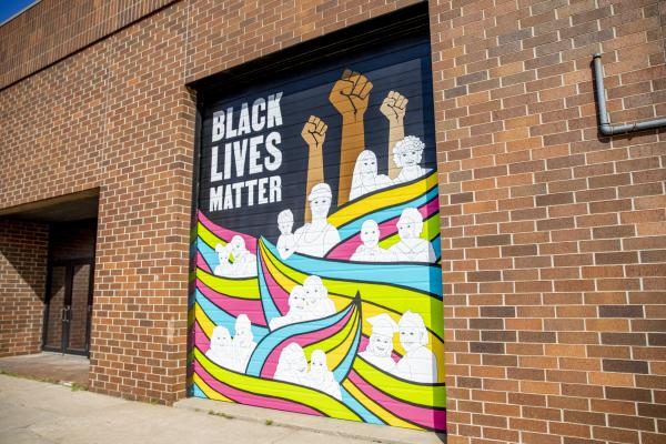 Black Lives Matter Mural on Lismore in Downtown Eau Claire, WI