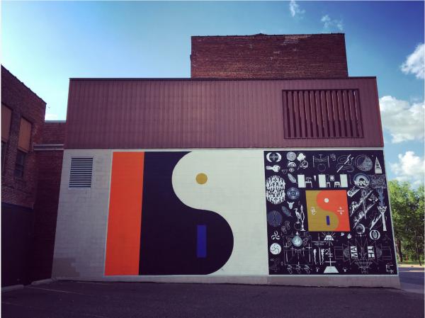The Bon Iver 22, a million mural in downtown Eau Claire